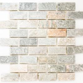 Quarz Mosaik mix beige mit grau h10407