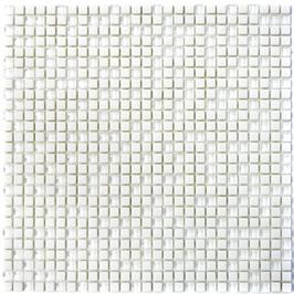 Cuba Glas Mosaik weiß h10632