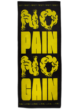 NO PAIN NO GAIN SWEAT TOWEL