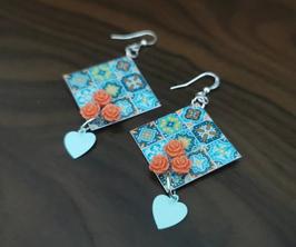 Boucles d'Oreilles Azulejos
