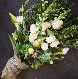 Mixed flowers high bouquet