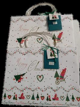 Weihnachtsgeschenktüten mit Seidenpapier 2er- Set