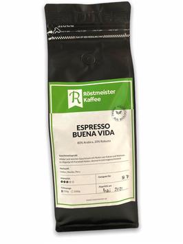 Espresso Buena Vida aus biologischer Landwirtschaft