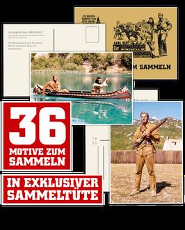"""Karl May Sammelkarten """"Der Schatz im Silbersee"""""""