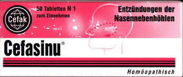 Cefasinu ® Tabletten (60) homöopathisch