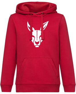 KANGAROOS Hoodie rot mit Kangaroos-Logo und Wunschname
