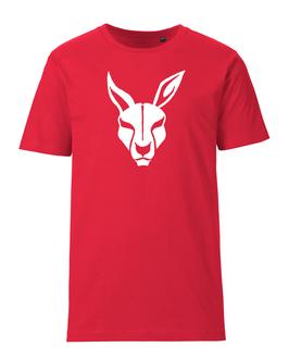 KANGAROOS T-Shirt rot mit Kangaroos-Logo und Wunschname