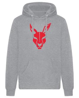 KANGAROOS Hoodie grau mit Kangaroos-Logo und Wunschname