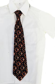 Kinderkrawatte fertig gebunden - schwarz mit orange