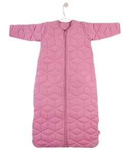Schlafsack - Kind - 110 cm - MAUVE - rose - 4 Jahreszeiten Schlafsack mit abnehmbarer Ärmel - Jollein