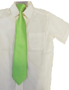 Kinderkrawatte fertig gebunden - grün einfärbig