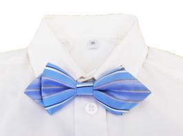 Kinderfliege verstellbar - blau-weiß gestreift