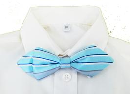 Kinderfliege verstellbar - aqua mit blauen Streifen