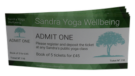 Book of 5 Yoga Class Tickets