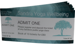 Book of 10 Yoga Class Tickets