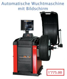 Automatische Wuchtmaschine mit Bildschrim