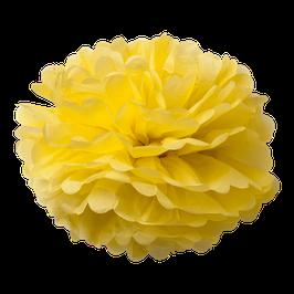 2 pompons en papier de soie jaunes 50cms et 40cms
