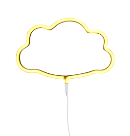 Lampe neon Nuage jaune A little lovely company