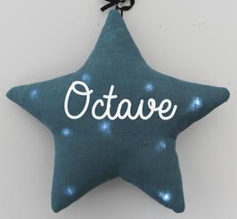 Veilleuse étoile bleu canard personnalisée, marque Toi même