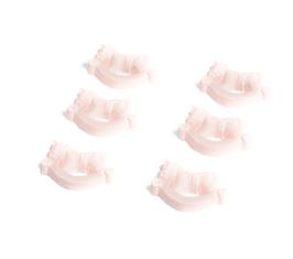 6 Stickers cheval à bascule rose pastel en résine