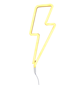 Lampe neon éclair jaune A little lovely company