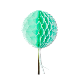 Boule alvéolée vert menthe guirlande vert menthe et or