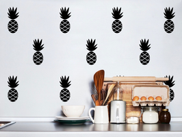 Stickers muraux ananas noirs Pom le bonhomme