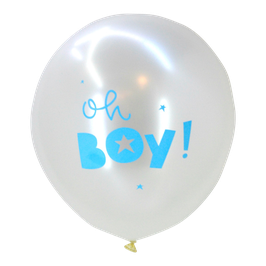"Pack de 6 ballons ""Oh boy"" A little Lovely Company"