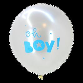 "Pack de 6 ballons ""Oh boy"" A little Lovely Company"