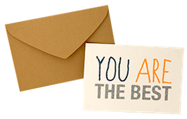 "Carte pailletée ""You are the best"""