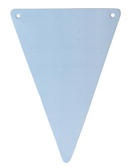 5 fanions triangles bleu ciel