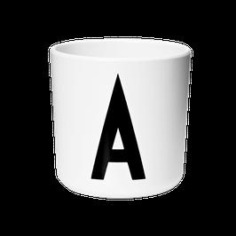 tasse avec lettres en mélamine design letters