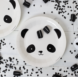 12 assiettes en carton Panda A Little lovely company