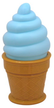 Lampe cornet de glace coloris bleu - Ice cream lamp A little Lovely Company