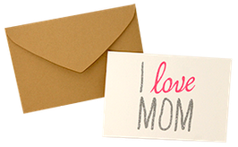 "Carte pailletée ""I love Mum"""