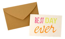 "Carte pailletée ""Best day ever"""