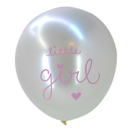 "Pack de 6 ballons ""Little girl"" A little Lovely Company"