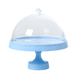 Présentoir bleu ciel avec dome transparent Rice
