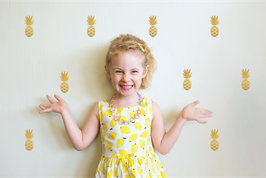 Stickers muraux ananas dorés Pom le bonhomme