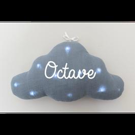 Veilleuse nuage bleu grisé personnalisée marque Toi même
