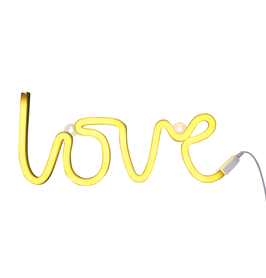 Lampe neon LOVE jaune A little lovely company