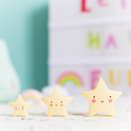 3 mini figurines étoiles jaune pastel A little lovely company
