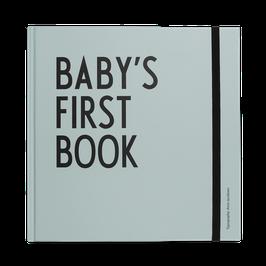 Premier Livre de bébé vert menthe Design Letters