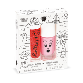 Coffret Holiday rollette fraise et vernis rose Cookie Nailmatic kids