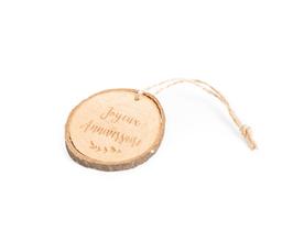 """5 rondins de bois décoratifs écriture """"Joyeux anniversaire"""""""