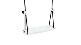 Balançoire Grand modèle plateau bois blanc et corde noire