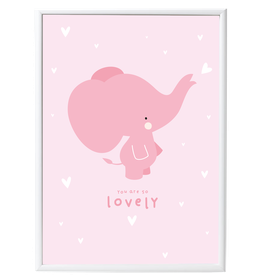 Poster petit Elephant Rose A little Lovely Company