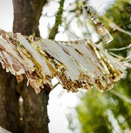 6 pompons tassels dorés pour guirlande tassel