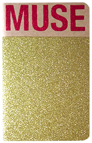 Carnet pailleté format A6 message MUSE