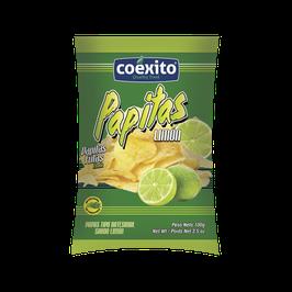 Papitas fritas limón 28gr Coéxito